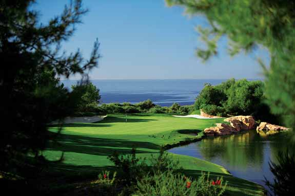 The South course back nine offers great views of the ocean.